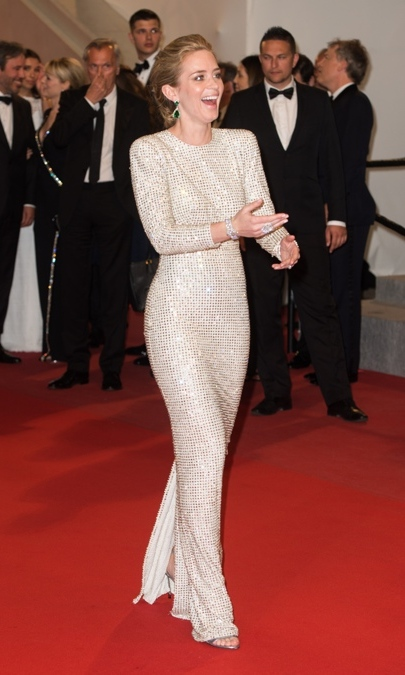 Emily Blunt in Stella McCartney.