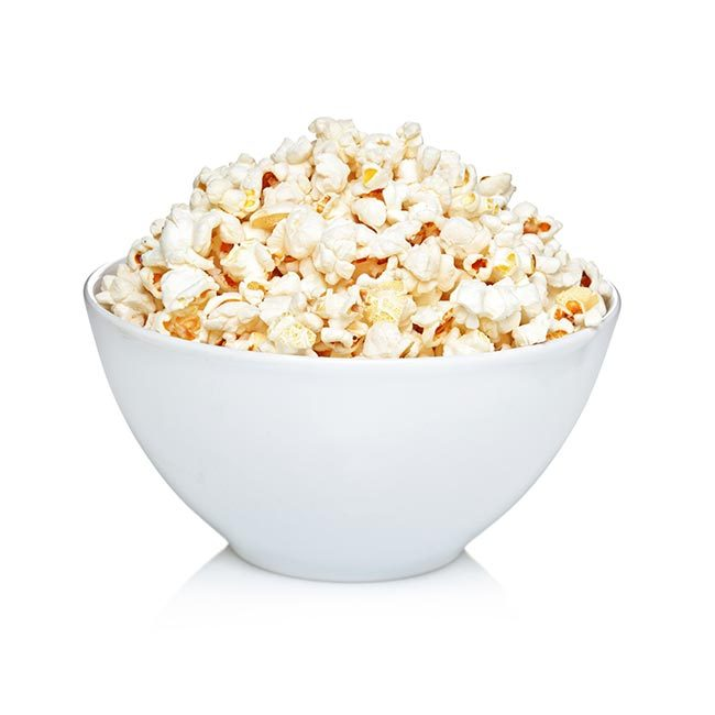225g air popped popcorn (31 calories)