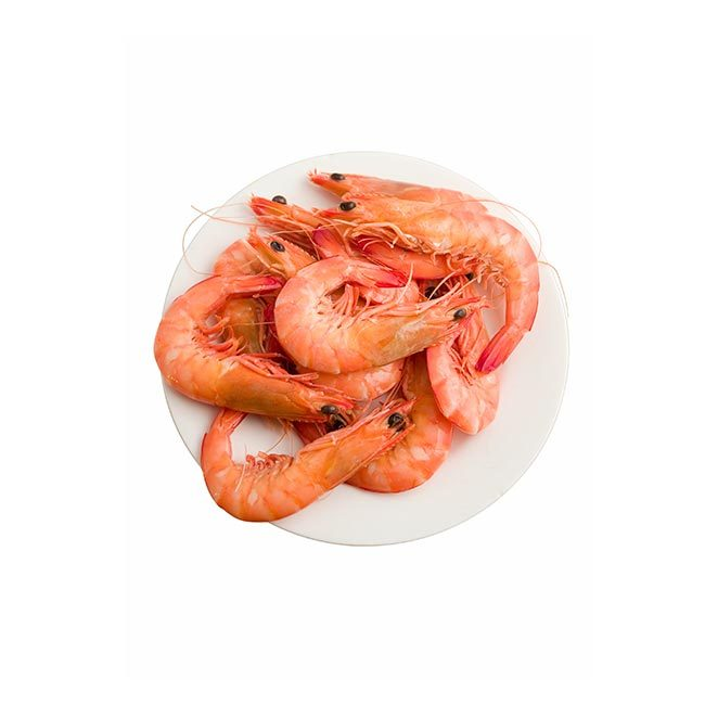 50g cooked prawns (50 calories)