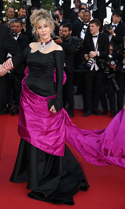 Jane Fonda in Schiaparelli Couture.