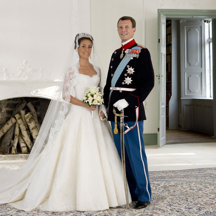 On May 24, 2008, Prince Joachim of Denmark married French-born Princess Marie at the picturesque Mogeltonder Church, located in a medieval village in South Denmark. Marie, who became a princess upon marriage, dazzled in a wedding gown designed by Spanish-Italian fashion house Arasa Morelli. 