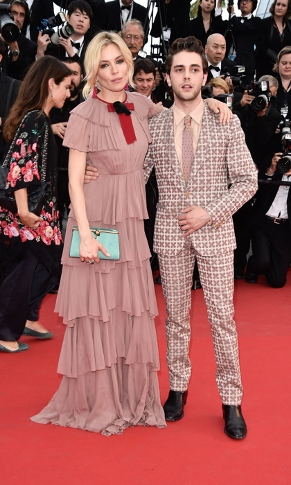 Sienna Miller in Gucci with Xavier Dolan.