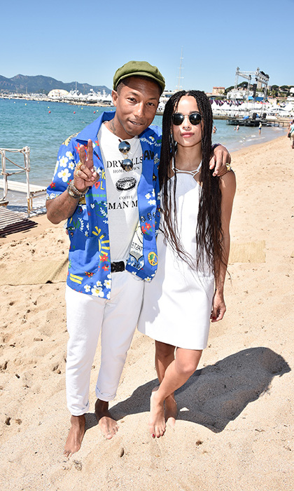 Pharrell Williams and Zoe Kravitz