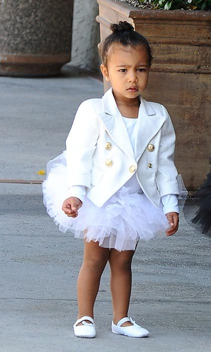 Adorable North is an avid ballerina, and always rocks a top knot hairstyle for class.
