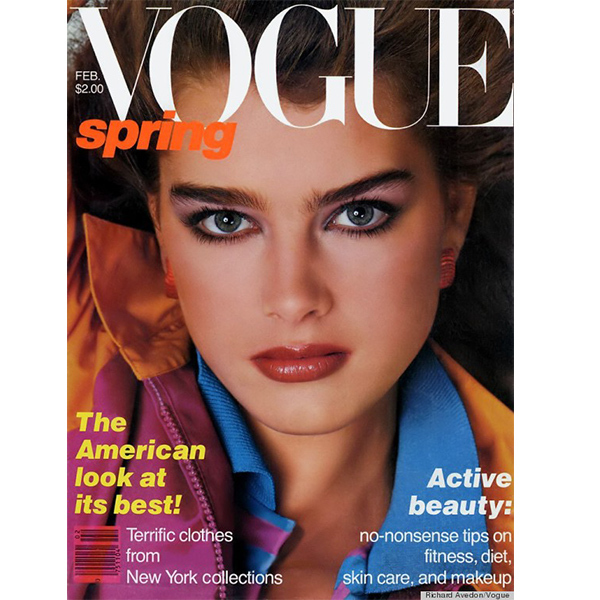 Brooke is the youngest person ever to grace the cover of 'Vogue'. At 14 years old, she (and her amazing statement brows) made her debut on the February 1980 issue. To date, she has been the magazine's cover girl 14 times. Photo © Vogue