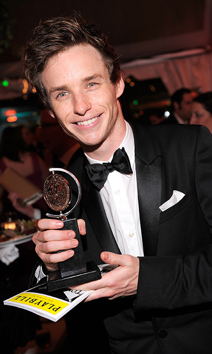 Right from the get-go, Eddie Redmayne made a splash on stage scooping up the trophy for Best Featured Actor in the play 'Red'. He now has a Tony, a Golden Globe and as Oscar on his shelf. 