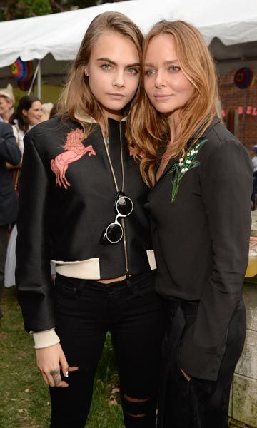 Cara Delevingne and Stella McCartney.
