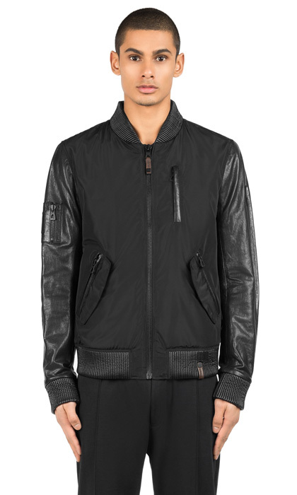 "This canvas jacket is as sporty as it is chic. Can dad say ""athleisure""?