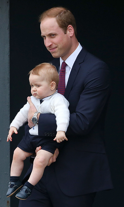 The adorable father and son prepare to say farewell to Australia on the conclusion of the royal tour in 2013.