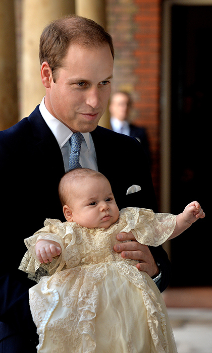 Prince George's christening at the Royal Chapel at St. James's Palace on Oct. 23, 2012 marked his second appearance in public.