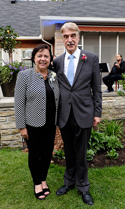 His Excellency Werner Wnendt, Ambassador of Germany,  and wife Eleonore Wnendt-Juber.