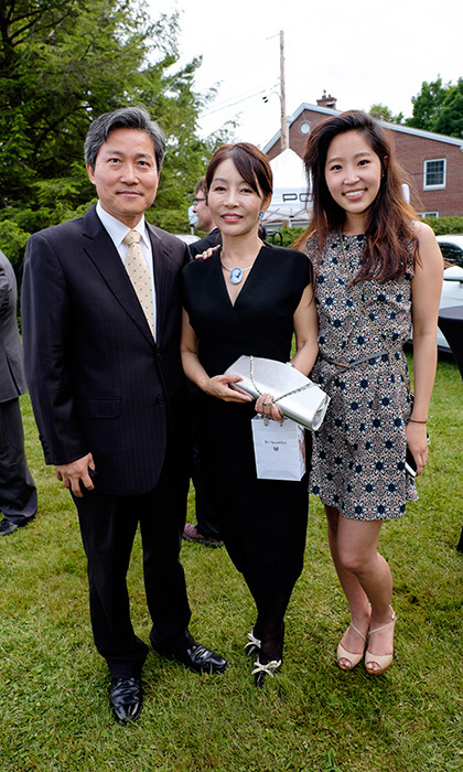 Minister and Deputy Chief of Mission Embassy of the Republic of Korea, wife Miki and  daughter Tina.