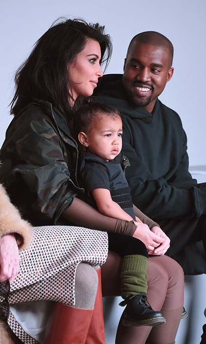 If anything can get Kanye West to smile it is his daughter North. The excited father can't wait to have another little one with pregnant wife Kim Kardashian.