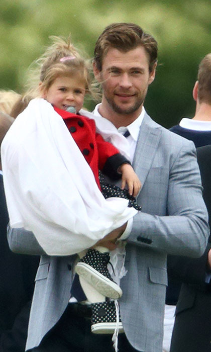 With three kids under three, Chris Hemsworth probably wishes he had Thor's strength and stamina. He and wife Elsa Pataky are parents to daughter India and twin boys Tristan and Sasha, who were born in March, 2014.