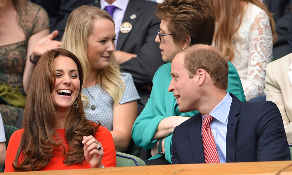 The Duke and Duchess of Cambridge share a laugh. 