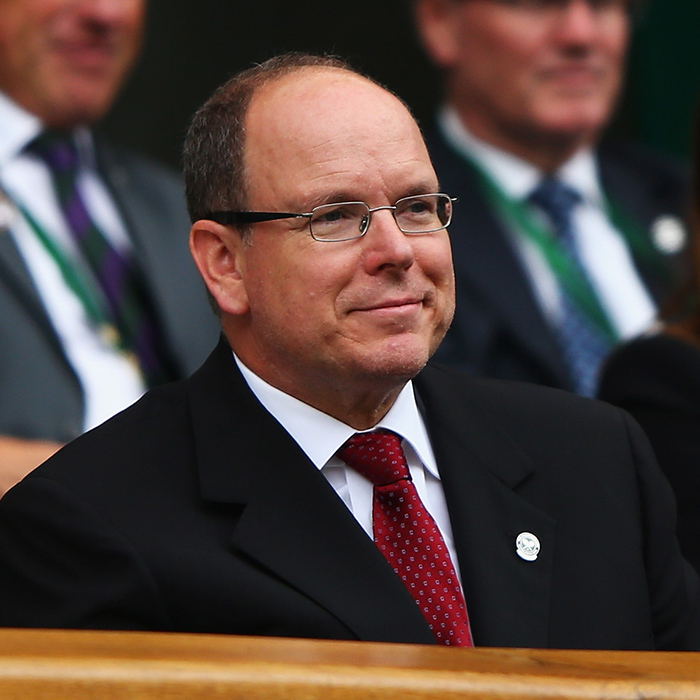 Prince Albert of Monaco took in the scene.