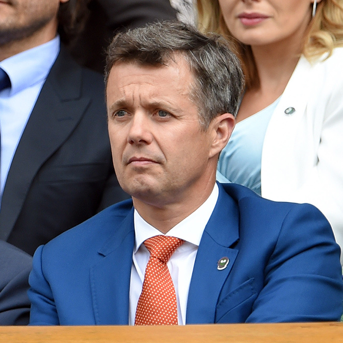 Crown Prince Frederik of Denmark watched intensely.