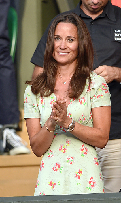 Pippa Middleton is a fixture in the stands.