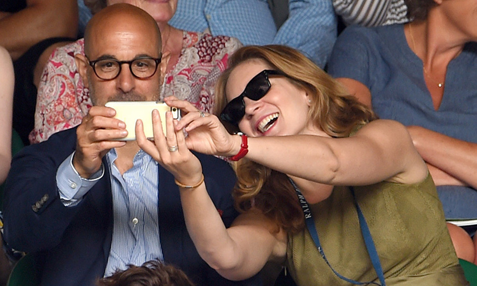 Stanley Tucci and wife Felicity snapped a selfie.