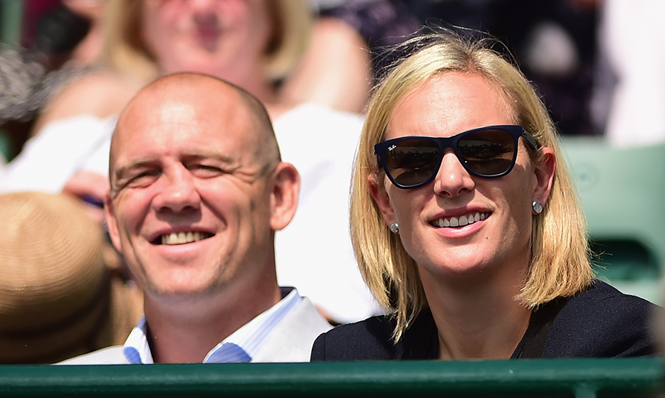 Mike and Zara Tindall got some sun.