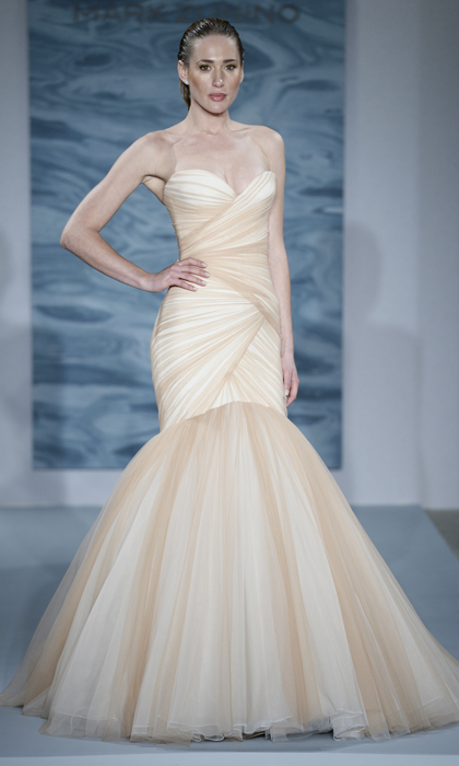 55b7cd775f2 This gown by Mark Zunino for Kleinfeld would not only please the  Modern  Family