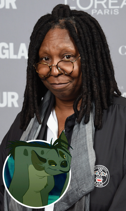 Whoopi Goldberg used her voice everyday to dish on hot topics as a host on TV's <em>The View</em>, but back in 1994 the <em>Ghost</em> actress embraced her animalistic side giving voice to Shenzi the hyena in <em>The Lion King</em>.