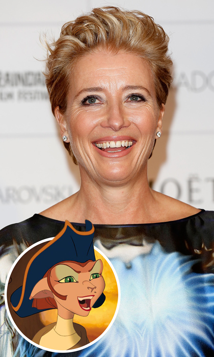 Two-time Oscar winning actress Emma Thompson showed off her sense and sensibility as the quick-witted Captain Amelia in Disney's 2002 film, <em>Treasure Planet</em>. 