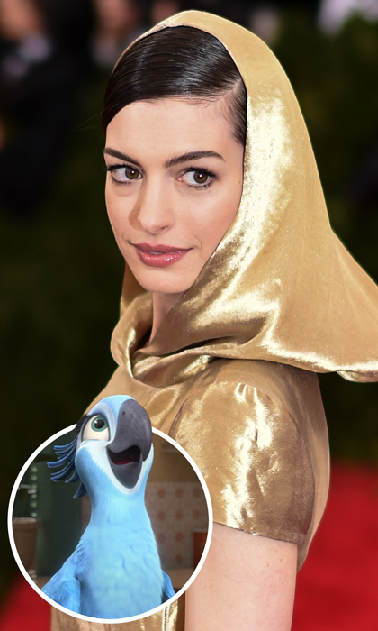 <em>Les Misérables</em> actress Anne Hathaway took viewers on a trip to <em>Rio</em> in 2011 and 2014, shining in her role as Jewel the macaw.