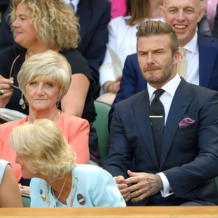 David Beckham and his mother Sandra. 