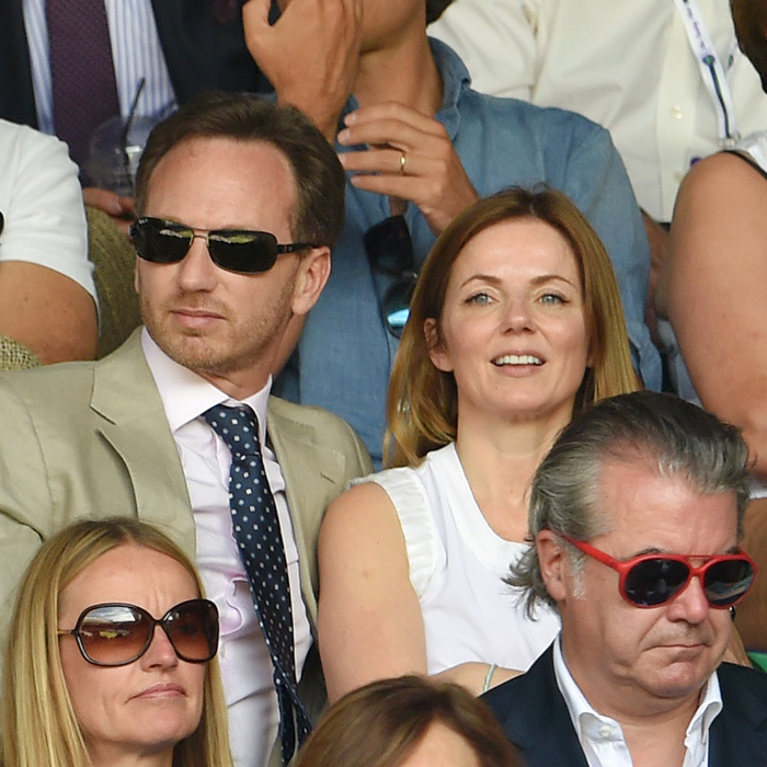 Geri Halliwell and new husband Christian Horner.