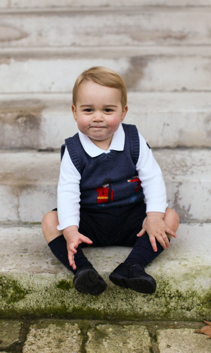 The third-in-line to the throne looked cute as a button in the pictures released ahead of Christmas 2014.