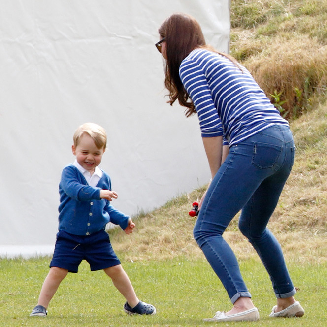 The youngster certainly knows how to keep his mum Kate on her toes.