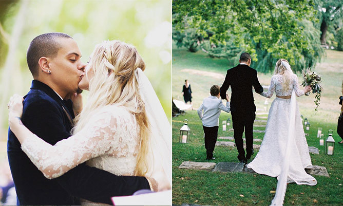 Evan ross shares fairytale photos from wedding with ashlee simpson junglespirit Images