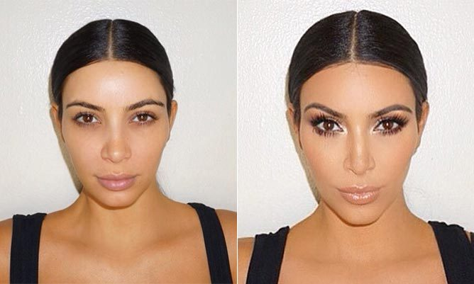 Kim Kardashian's makeup artist shows before and after transformation