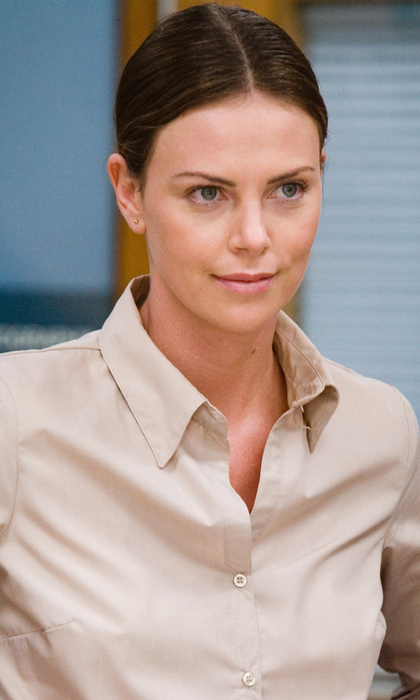 Charlize is pared down in minimal makeup to play a police detective in the 2007 film 'In the Valley of Elah,' directed by Canada's own Paul Haggis. Photo: © Warner