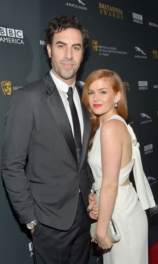 <h2>Isla Fisher and Sacha Baron Cohen</h2>