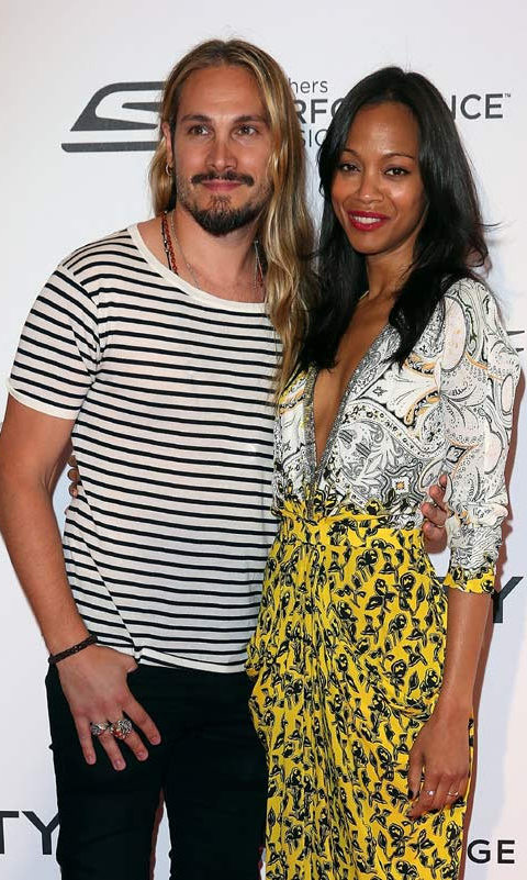 <h2>Zoe Saldana and Marco Perego</h2>