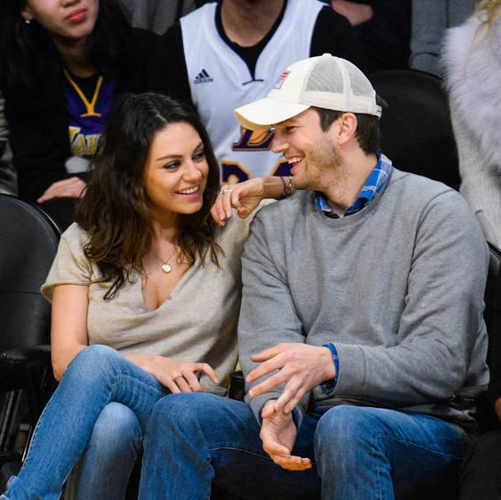 <h3>Ashton Kutcher and Mila Kunis</h3>