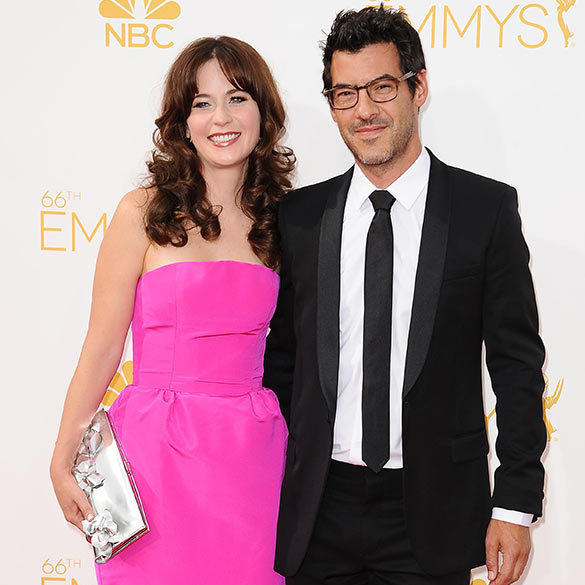 <h2>Zooey Deschanel and Jacob Pechenik</h2>