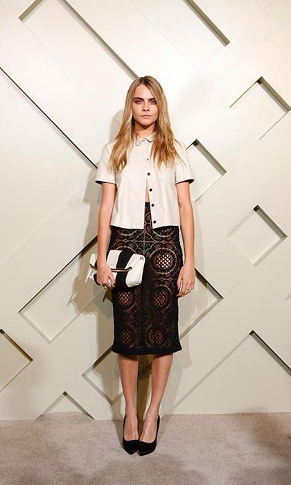 Cara channelled British chic at the 'Burberry brings London to Shanghai' event in 2014.