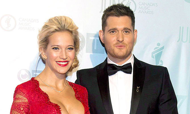 Michael bubl 233 s wife luisana lopilato gives update on son noah s