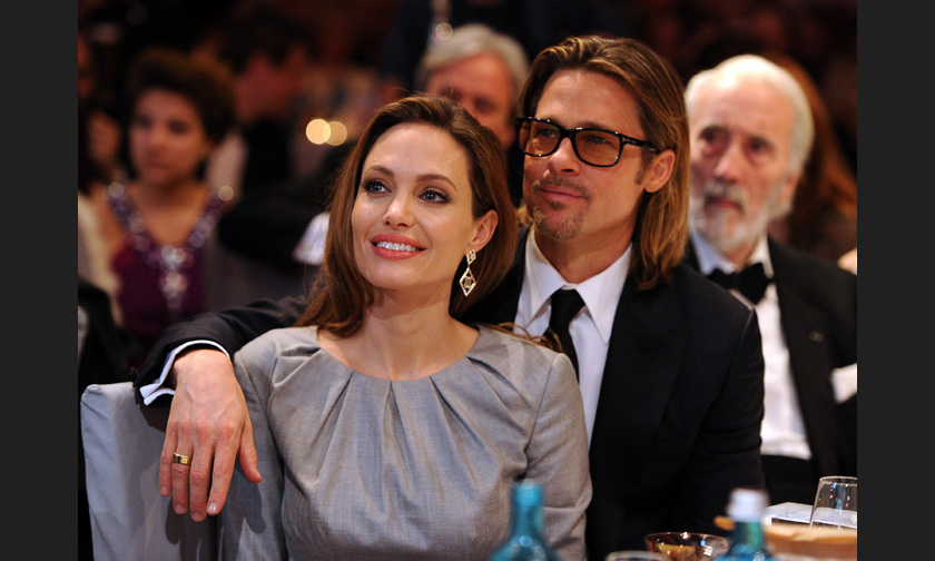 Angelina on Brad's support after she decided to have her ovaries removed because of the threat of cancer: