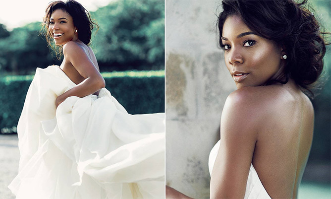 Gabrielle union is a vision in new unseen photos of her wedding dress junglespirit Images