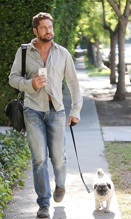 Actor Gerard Butler is known for being a ladies man, but the number one woman in his life, is his pug, Lolita.