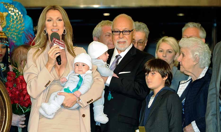 Celine Dion, Rene and their sons, Nelson, Eddy and Rene-Charles arrive at Caesars Palace in 2011 to start their second residency in Las Vegas. 