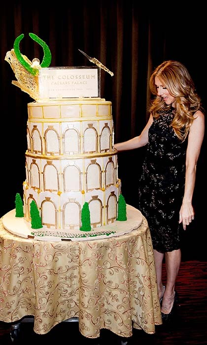 Caesars Palace marked Celine's 10th anniversary in 2013 with a larger-than-life cake. 