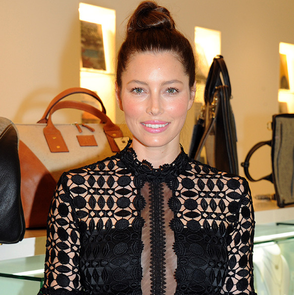 radiant jessica biel makes rare post-baby appearance to support