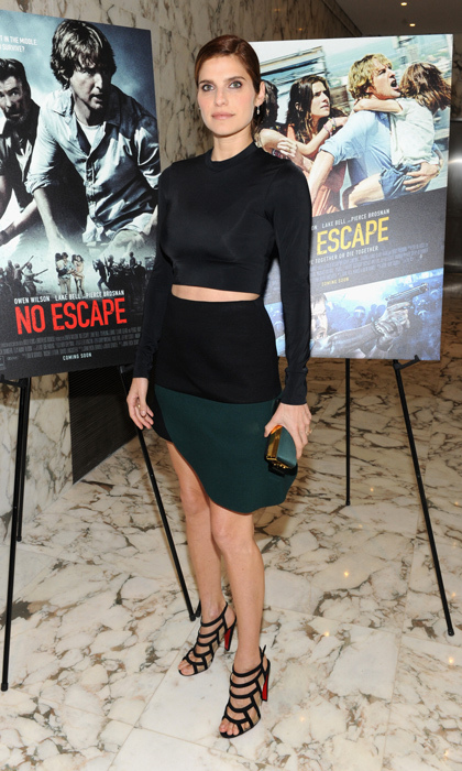 Lake Bell attended the 'No Escape' NYC premiere in a Marni ensemble complete with Christian Louboutin sandals. 