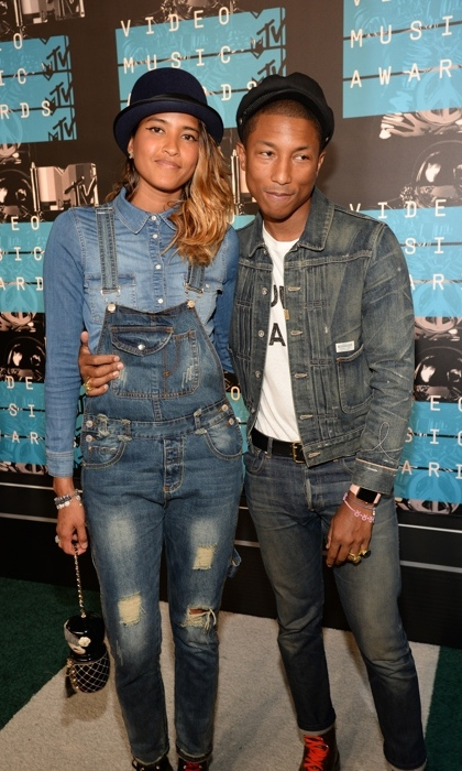 Helen Lasichanh and Pharrell Williams.