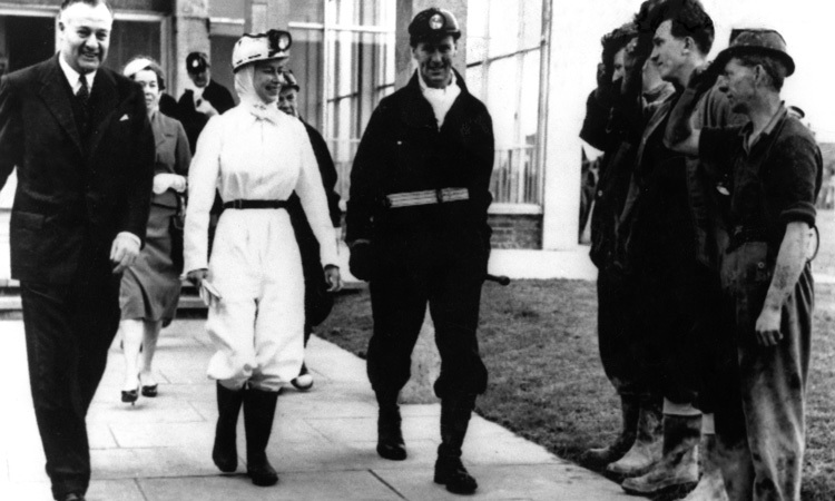 THE PEOPLE'S QUEEN, 1958: From the start of her reign, the Queen made it clear that she would be hands-on when it came to her duties. In 1958, Her Majesty donned white overalls and a miner's helmet and boots for her first visit to a mine, inspecting the Rothes Colliery in Scotland.